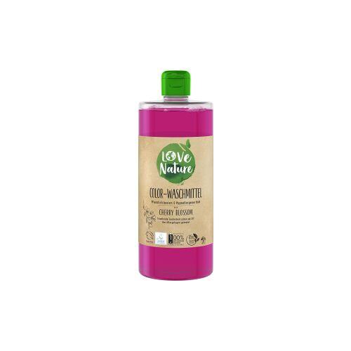 Love Nature Cherry Blossom Color-Waschmittel, Umweltfreundliches Flüssigwaschmittel für strahlend reine Wäsche, 960 ml - Flasche