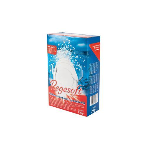 Regesoft Spülmaschinensalz, grob, Spezialsalz für Spülmaschinen, 1 Karton = 6 Packungen à 2 kg