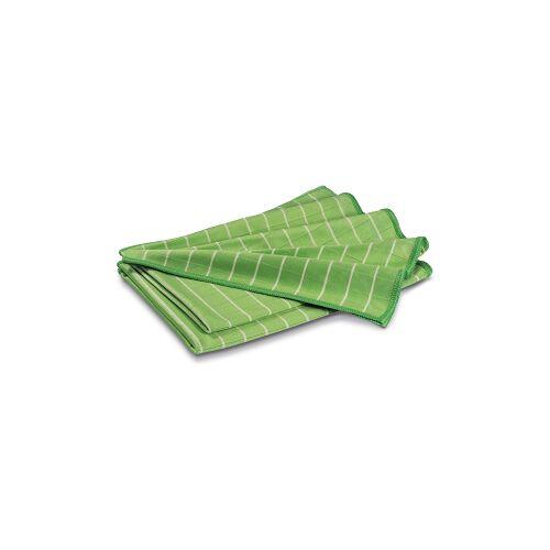 POLYCLEAN Microfasertuch mit Bambusfasern, 60 x 40 cm, XXL Poliertücher für fusselfreies Polieren, 1 Packung = 2 Tücher, Farbe: grün
