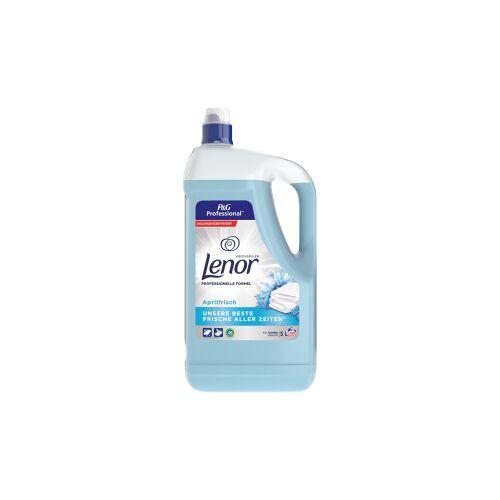 Procter & Gamble Service GmbH P&G Professional Lenor Weichspüler Aprilfrisch, Wäschepflege für langanhaltende Frische , 5 Liter - Flasche