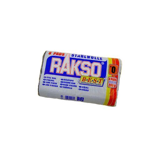 Rakso Stahlwollepads, 200 g - Pad, 1 Packung = 8 Stück