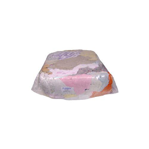 Trikot-Putzlappen, Bunt gemischt, 10 kg - Ballen