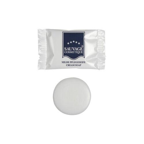 Sauvage Cosmetique GmbH Sauvage Hotelkosmetik Cremeseife in Folie, Für gepflegte Haut, 1 Karton = 200 Stück à 12 g