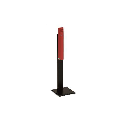 VAR GmbH VAR Wandascher B 12, verschließbar, mit Standfuß, Farbe: rot