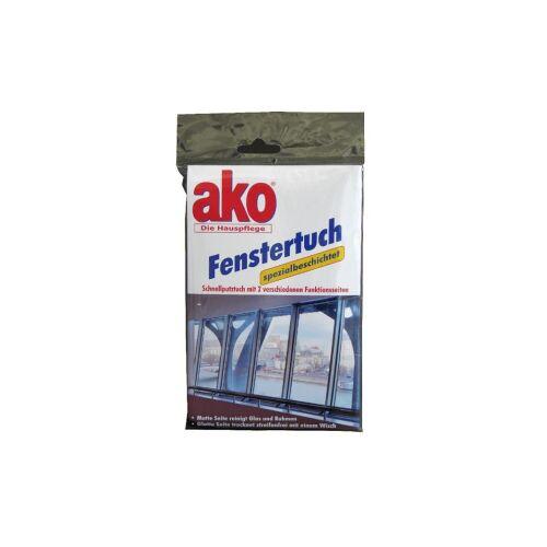 DELU-AKO-MINKY GmbH ako® Fenstertuch, Schnellputztuch mit zwei Funktionsseiten, 1 Packung = 1 Fenstertuch