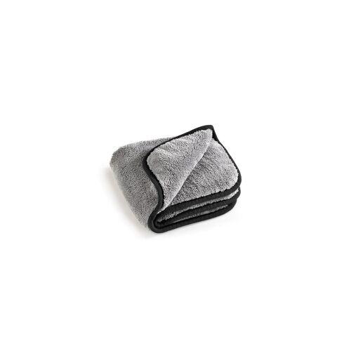 MEGA Clean Professional GmbH MEGA Clean Professional MEGA Flausch Mikrofasertuch, Ideal für die Autopflege, 40 x 40 cm, 600 g/qm, 1 Stück, Farbe: grau / schwarz