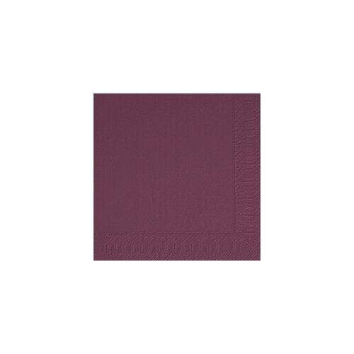Duni GmbH & Co. KG DUNI Servietten, aus Zellstoff, Lösungsmittelfreies Mundtuch, Farbe: plum, 1 Karton = 4 x 250 Stück = 1000 Servietten, Farbe: plum