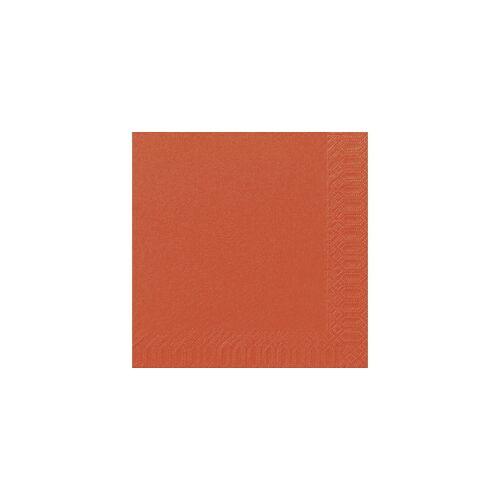 Duni GmbH & Co. KG DUNI Servietten, aus Zellstoff, Lösungsmittelfreie Servietten, Farbe: mandarin, 1 Karton = 4 x 250 Stück = 1.000 Stück