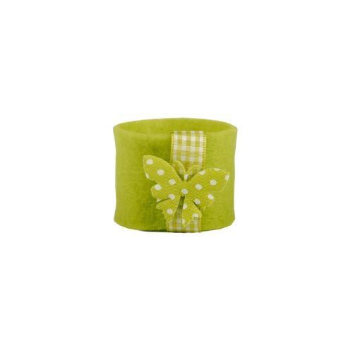 PAPSTAR  GmbH Papstar Schmetterling Serviettenringe, Farbe: kiwi, 1 Set = 4 Ringe