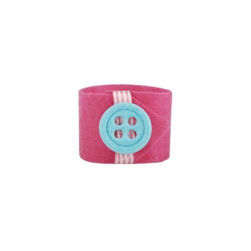 PAPSTAR  GmbH Papstar Button Serviettenringe, Farbe: pink, 1 Set = 4 Ringe