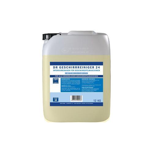 DR  Gewerbe Spülmaschinenreiniger 24, Intensivreiniger für Geschirrspülmaschinen, 12 kg - Kanister
