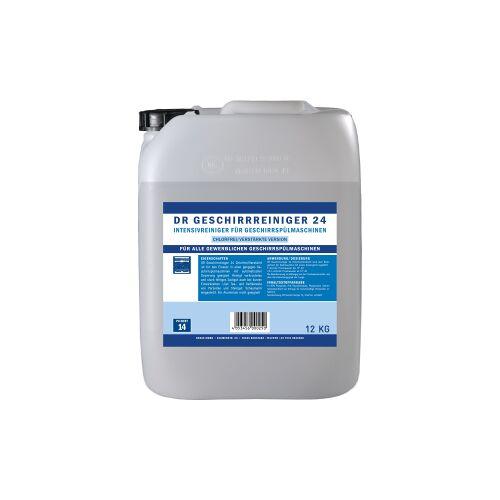 DR Gewerbe Spülmaschinenreiniger 24 chlorfrei, Intensivreiniger für Geschirrspülmaschinen, 12 kg - Kanister