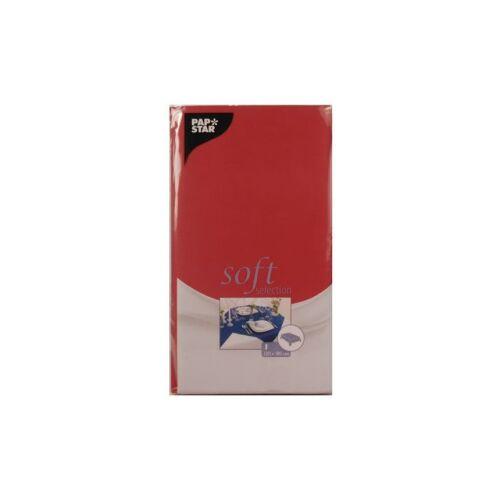PAPSTAR  GmbH Papstar Soft Selection Tischdecke, Maße: 120 cm x 180 cm, 1 Packung = 1 Stück, rot