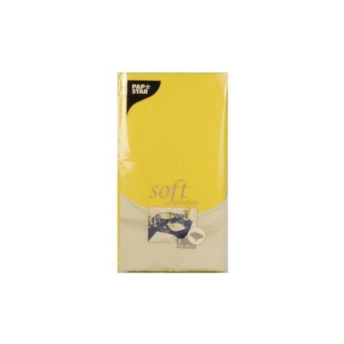 PAPSTAR  GmbH Papstar Soft Selection Tischdecke, Maße: 120 cm x 180 cm, 1 Packung = 1 Stück, gelb