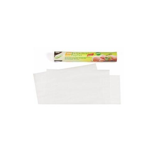 PAPSTAR  GmbH Papstar Butterbrotpapier, Maße: 25 cm x 30 cm, weiß, 1 Packung = 100 Blatt