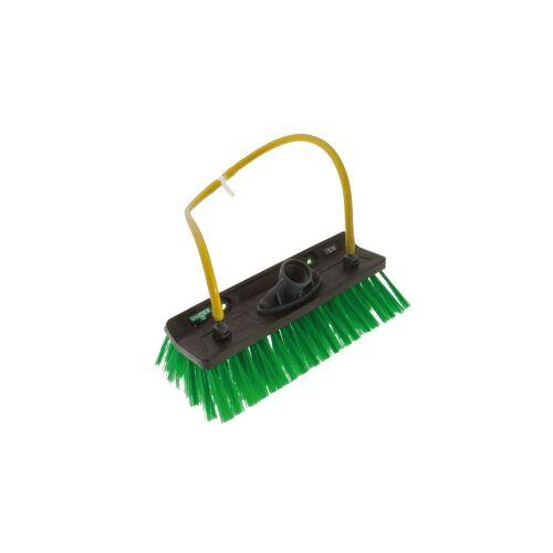 Unger Germany GmbH UNGER nLite® Winkelbürste, Superleichte wasserführende Bürste mit Düsenanschlüssen, Breite: 27 cm, 4 Düsenanschlüsse, schwarz