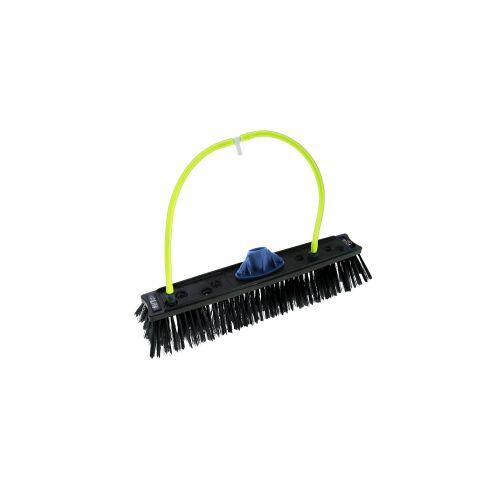 Unger Germany GmbH UNGER nLite® Rechteckige Bürste, Wasserführende Bürste mit Düsenanschlüssen, Breite: 40 cm, 8 Düsenanschlüsse, schwarz