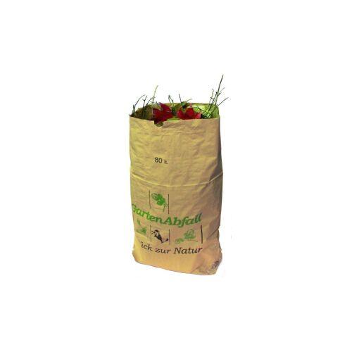 Naturabiomat GmbH BIOMAT® Gartenabfallsäcke aus Kraftpapier 80-120 l, Maße: 700 x 250 x 950 mm, 1 Bündel = 25 Abfallsäcke