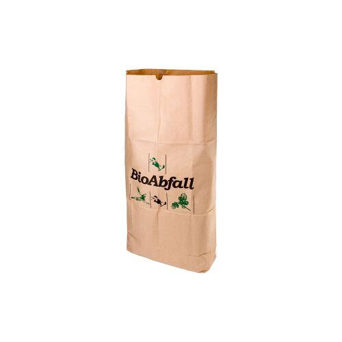 Naturabiomat GmbH BIOMAT® Einstecksäcke aus Kraftpapier 120 Liter, Maße: 750 x 250 x 1150 mm, 1 Bündel = 25 Einstecksäcke