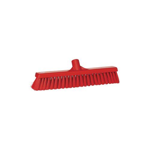 Vikan GmbH Vikan Besen, 410 mm, weich, Spezialbesen für die Entfernung loser Verschmutzungen aller Art, Farbe: rot