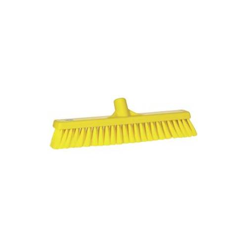 Vikan GmbH Vikan Besen, 410 mm, weich, Spezialbesen für die Entfernung loser Verschmutzungen aller Art, Farbe: gelb