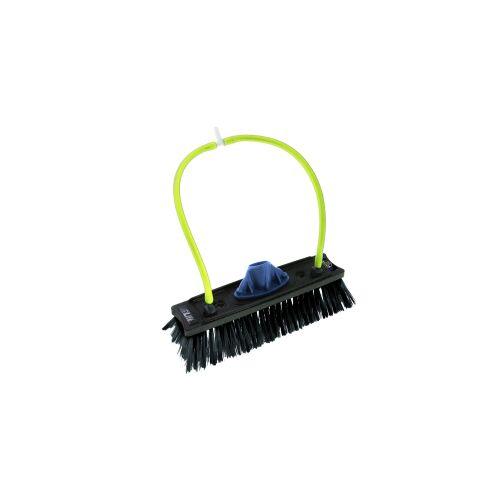 Unger Germany GmbH UNGER nLite® Rechteckige Bürste, Wasserführende Bürste mit Düsenanschlüssen, Breite: 27 cm, 4 Düsenanschlüsse, schwarz