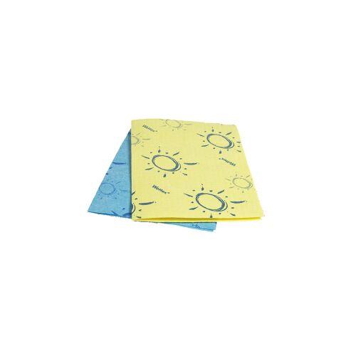 Vileda Professional Wettex® Soft Schwammtuch, Sehr saugfähiges Tuch für die Reinigung in der Gastronomie, Farbe: gelb