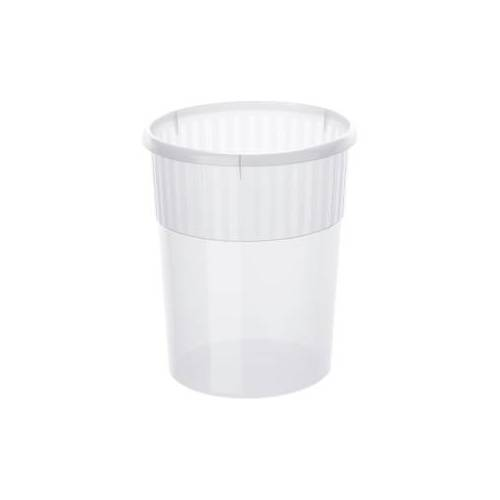 Rotho Kunststoff AG Rotho SPACEMAKER Papierkorb, 18 Liter, Maße: 310 x 310 x 350 mm, Farbe: transparent
