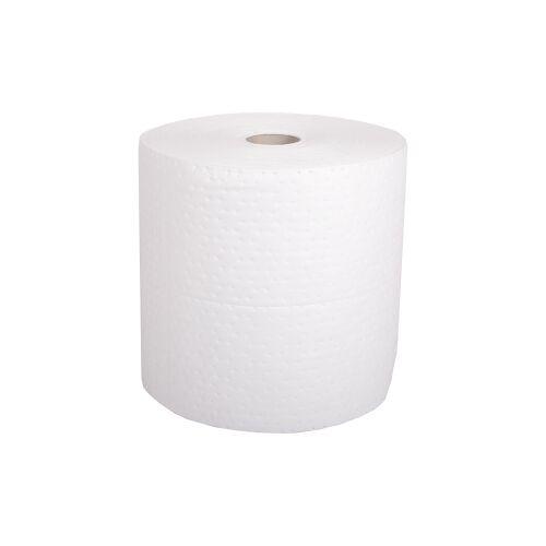 Sorbent Öl-absorbierende Tücher, 2-fach perforiert, Rolle, Maße: 38,0 x 42,0 cm, 1-lagig, weiß, 1 Rolle = 110 Tücher