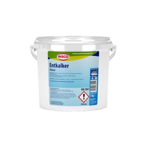 Weco GmbH WECO Entkalker Pulver, Entfernt zuverlässig Kalkablagerungen an gewerblichen Geschirrspülmaschinen, 5 kg - Eimer