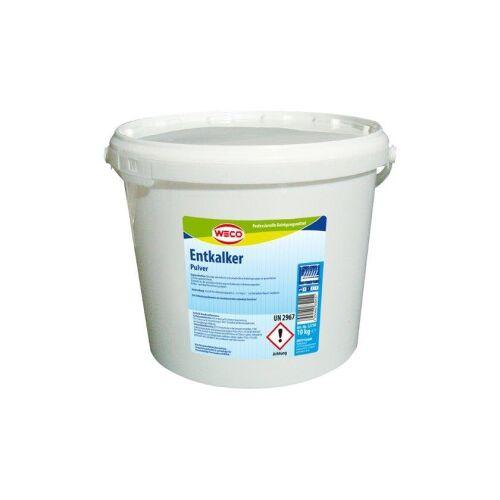 Weco GmbH WECO Entkalker Pulver, Entfernt zuverlässig Kalkablagerungen an gewerblichen Geschirrspülmaschinen, 10 kg - Eimer