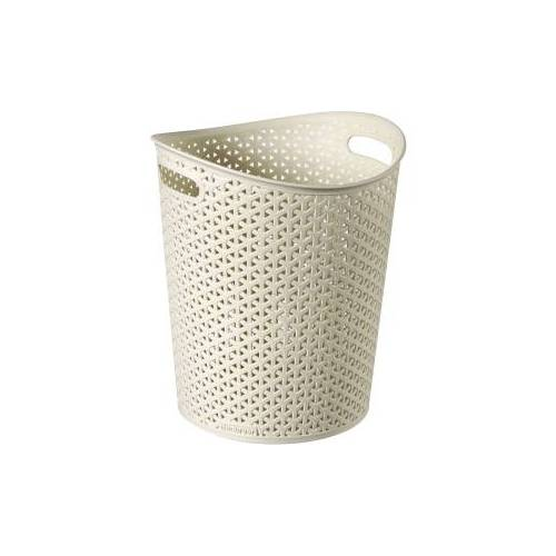 Curver Luxembourg S.a.r.l CURVER MY STYLE Papierkorb, Papiertonne aus Kunststoff, Farbe: creme