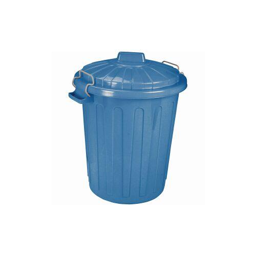 Curver Luxembourg S.a.r.l CURVER Charlie-Tonne Mülltonne, Mülltonne aus Kunststoff, Farbe: blau