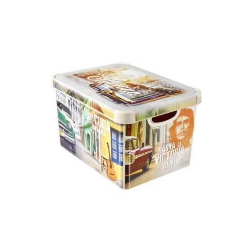 Curver Luxembourg S.a.r.l CURVER DECO´s Stockholm Aufbewahrungsbox, 20 Liter, Aufbewahrungskisten im Trend-Design bringen Farbe in Ihr Zuhause, Design: Cuba
