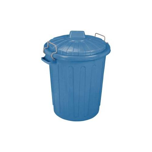 Curver Luxembourg S.a.r.l CURVER Oscar-Tonne Aufbewahrungstonne, 23 Liter, Mülltonne aus Kunststoff, Farbe: blau