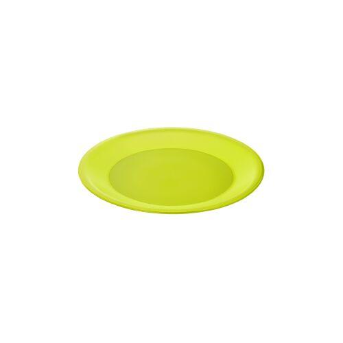 Rotho Kunststoff AG Rotho CARUBA Teller, flach, Teller aus Kunststoff, Farbe: lime grün
