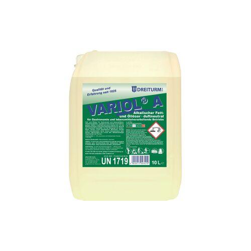 DREITURM GmbH Dreiturm VARIOL® A Lösemittel, Alkalischer Fett- und Öllöser, duftneutral, 10 l - Kanister