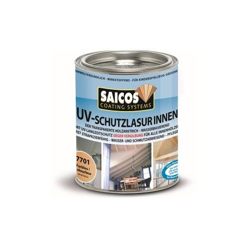 SAICOS COLOUR GmbH SAICOS UV-Schutzlasur Innen, farblos, UV-Langzeitschutz gegen Vergrauung und Vergilbung des Holzes, 750 ml - Dose