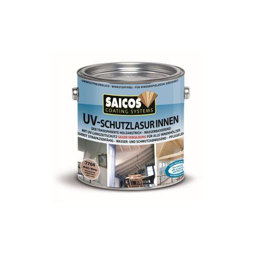 SAICOS COLOUR GmbH SAICOS UV-Schutzlasur Innen, weiß, UV-Langzeitschutz gegen Vergrauung und Vergilbung des Holzes, 2,5 Liter - Dose