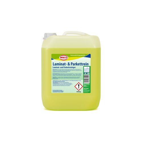 Weco GmbH WECO Laminat- & Parkettrein , Für die Unterhaltsreinigung und Pflege aller wasserfesten Böden, 10 l - Kanister