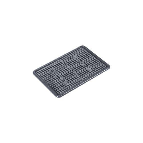 Fuchs Gastronomiebedarf GmbH DELFIN® Abtropfwanne, 67 x 47 cm, Abtropfablage mit integriertem Ausgießer, Farbe: grau