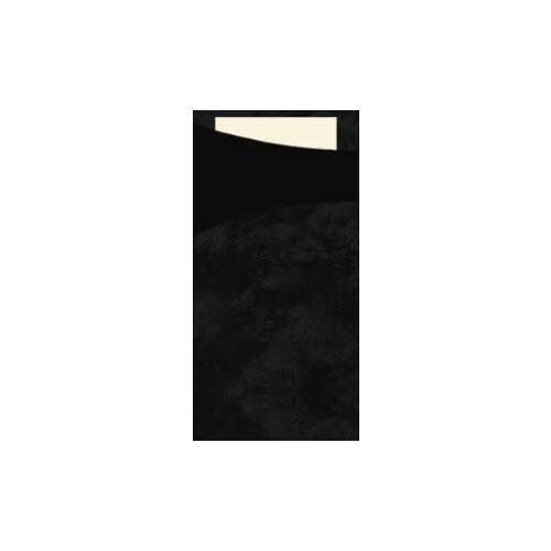 Duni GmbH & Co. KG DUNI Sacchetto Serviettentaschen, Tissue, Praktische Bestecktasche, 1 Karton = 5 x 100 Stück, schwarz