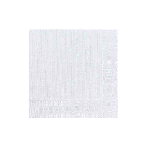 Duni GmbH & Co. KG DUNI Servietten, 40 x 40 cm, 4-lagig, weiß, Geprägtes Mundtuch mit 1/4 Falz, 1 Karton = 6 x 50 Stück = 300 Stück