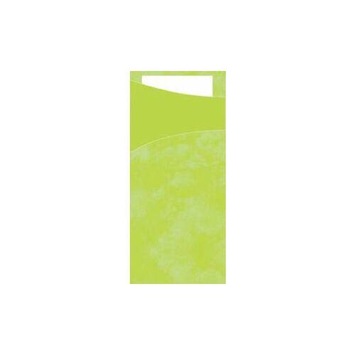 Duni GmbH & Co. KG DUNI Sacchetto Serviettentaschen, Tissue, Praktische Bestecktasche, 1 Karton = 5 x 100 Stück, Farbe: lime