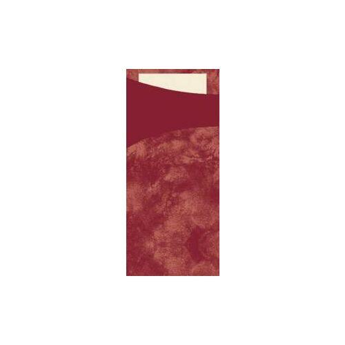 Duni GmbH & Co. KG DUNI Sacchetto Serviettentaschen, Tissue, Praktische Bestecktasche, 1 Karton = 5 x 100 Stück, Farbe: bordeaux
