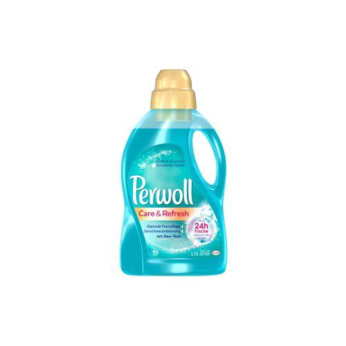 Henkel AG & Co. KGaA Perwoll Care & Refresh Waschmittel, Vollwaschmittel neutralisiert schlechte Gerüche und setzt Duftstoffe frei, 1,5 Liter - Flasche für ca. 20 Waschladungen
