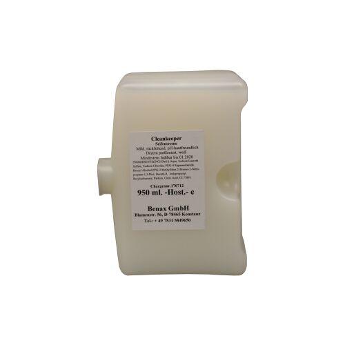 Cleankeeper Milde Seifencreme, 950 ml - Flasche -Host. mit Alusiegel-, weiß, Zitronenduft