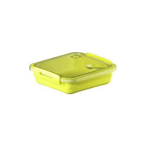 Rotho Kunststoff AG Rotho MEMORY Mikrowellen-Dose, Mikrowellen-Behälter zum Aufwärmen, Transportieren oder Frischhalten, Füllmenge 550 ml, 160 x 150 x 47 mm, LIME grün