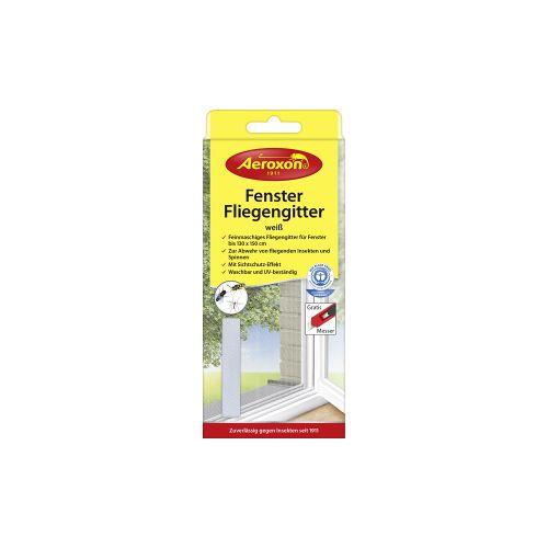 Aeroxon Insect Control GmbH Aeroxon® Fenster-Fliegengitter, Feinmaschiges, UV-beständiges Fliegengitter zur Abwehr fliegender Insekten, 1 Packung = 1 Fliegengitter, Farbe: weiß