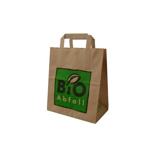 Naturabiomat GmbH BIOMAT® Bioabfallsäcke aus Papier 8 l mit Henkel, Maße: 220 x 140 x 260 mm, 1-lagiges Kraftpapier, 1 Karton = 240 Beutel